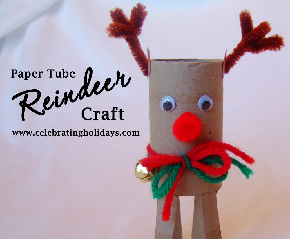 Toilet Paper Tube Reindeer